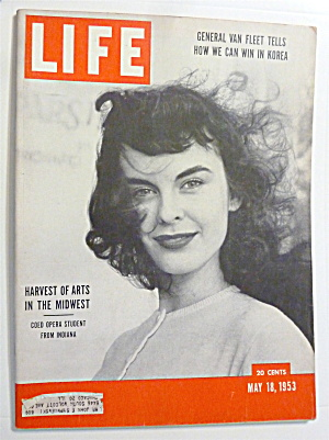 Life Magazine-may 18, 1953-opera Student From Indiana