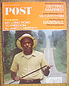 Saturday Evening Post Magazine-august 13, 1966-baseball