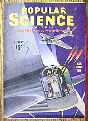 Popular Science Magazine-august 1940-plastic Airplanes