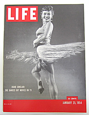 Life Magazine-january 25, 1954-diane Sinclair On Tv