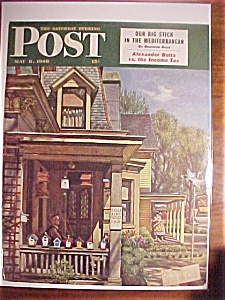 Saturday Evening Post Cover By John Falter-may 8, 1948