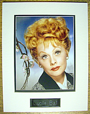 Lucille Ball Matted Picture (I Love Lucy) 11 X 14