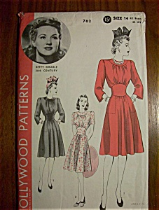 Vintage Pattern -1940's Hollywood Patterns Betty Grable
