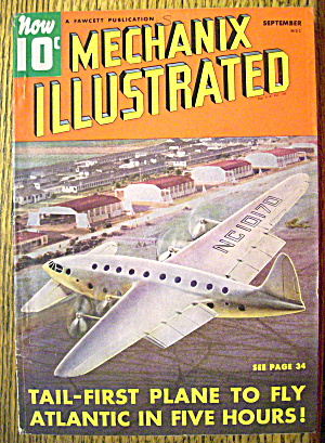 Mechanix Illustrated Magazine-september 1940-planes
