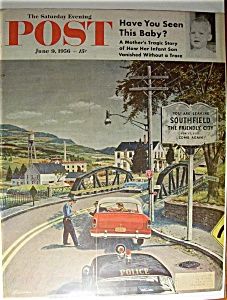 Saturday Evening Post Cover By Prins - June 9, 1956