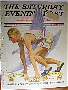 Saturday Evening Post Cover - August 8, 1936 - Kernan