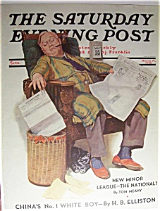 Saturday Evening Post Cover By Howitt - March 19, 1938