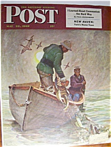 Saturday Evening Post Cover By Schaeffer-may 28, 1949