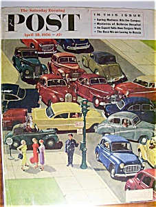Saturday Evening Post Cover By Mayan - April 28, 1956