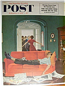Saturday Evening Post Cover By Hughes - Feb 6, 1954