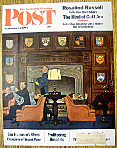 Saturday Evening Post Cover By Williamson-sept 29, 1962