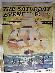 Saturday Evening Post Cover By Grant - Sept 29, 1934