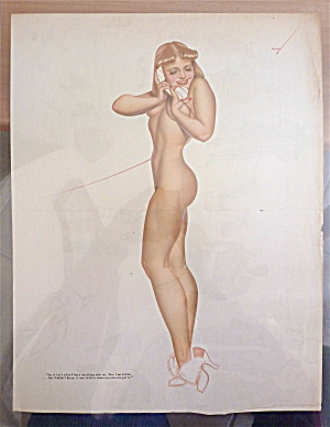 Lithograph Pin Up By Petty-1940's-nude Blonde Bombshell