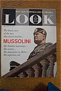 Look Magazine - August 30, 1960 - Mussolini (Image1)