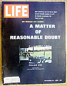 Life Magazine-november 25, 1966-kennedy Assassination