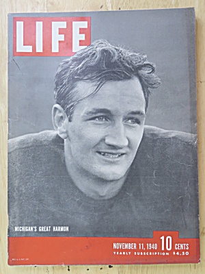 Life Magazine-november 11, 1940-michigan's Great Harmon