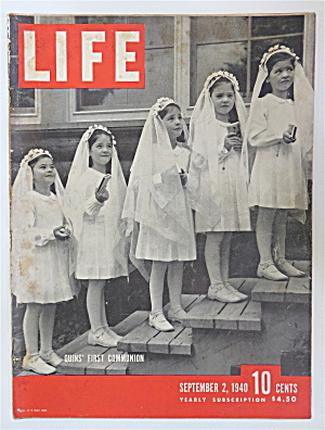Life Magazine September 2, 1940 Quint's First Communion