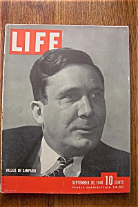 Life Magazine - September 30, 1940 - Willkie Campaign