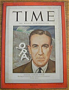Time Magazine-march 4, 1946-economic Stabilizer Bowles