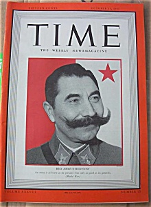 Time Magazine - Oct 13, 1941 - Red Army's Budenny Cover (Image1)