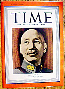 Time Magazine-june 1, 1942-china's Gissimo Chiang
