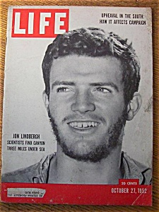 Life Magazine - October 27, 1952 - Jon Lindbergh