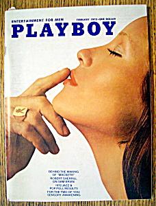 Playboy Magazine-February 1972-P. J. Lansing (Image1)