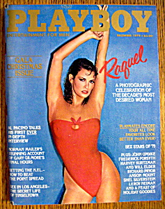Playboy Magazine-december 1979-raquel Welch
