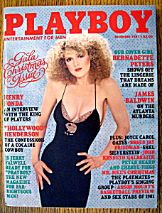 Playboy Magazine-december 1981-patricia Farinelli