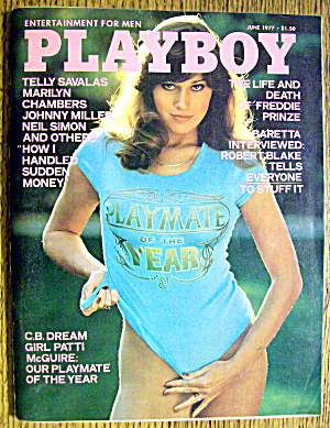 Playboy Magazine-june 1977-patti Mcguire/virve Reid