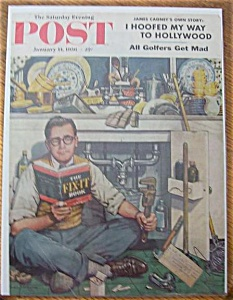 Saturday Evening Post Cover -dohanos- January 14, 1956