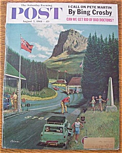Saturday Evening Post Cover By Prins-august 5, 1961