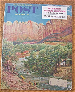 Saturday Evening Post Cover By Clymer - July 9, 1960