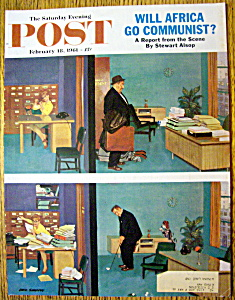 Saturday Evening Post Cover-feb 18, 1961-dick Sargent