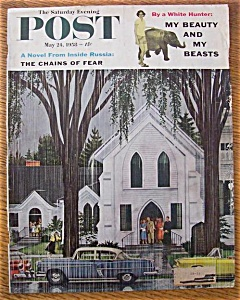 Saturday Evening Post Cover/m. Brindle - May 24, 1958