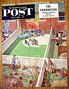 Saturday Evening Post Magazine Cover By Utz-may 2, 1953