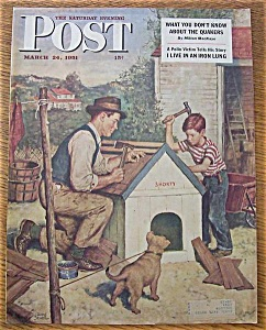 Saturday Evening Post Cover By Sewell - March 24, 1951 (Image1)