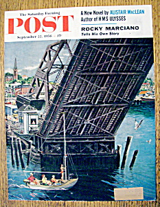 Saturday Evening Post Cover By Prins-september 22, 1956