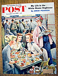 Saturday Evening Post Cover By Alajalov-nov 10, 1956