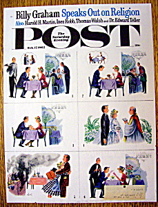 Saturday Evening Post Cover By Alajalov-feb 17, 1962