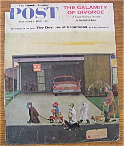 Saturday Evening Post Cover - Falter - November 1, 1958