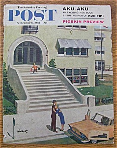 Saturday Evening Post Cover By Utz - Sept 6, 1958