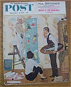 Saturday Evening Post Cover By Hughes - Nov 22, 1958