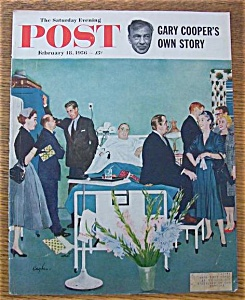 Saturday Evening Post Cover By Hughes - Feb 18, 1956