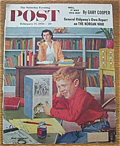 Saturday Evening Post Cover-feb 25, 1956-dick Sargent