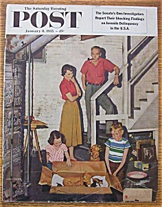Saturday Evening Post Cover - Falter - January 8, 1955