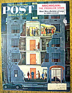 Saturday Evening Post Cover-february 25, 1961-prins