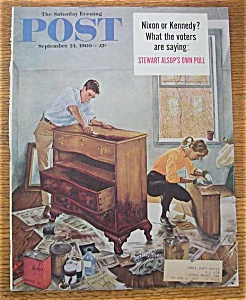Saturday Evening Post Cover By Hughes - Sept 24, 1960