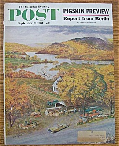 Saturday Evening Post Cover-september 9, 1961-clymer