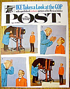 Saturday Evening Post Cover By Sargent-april 21, 1962